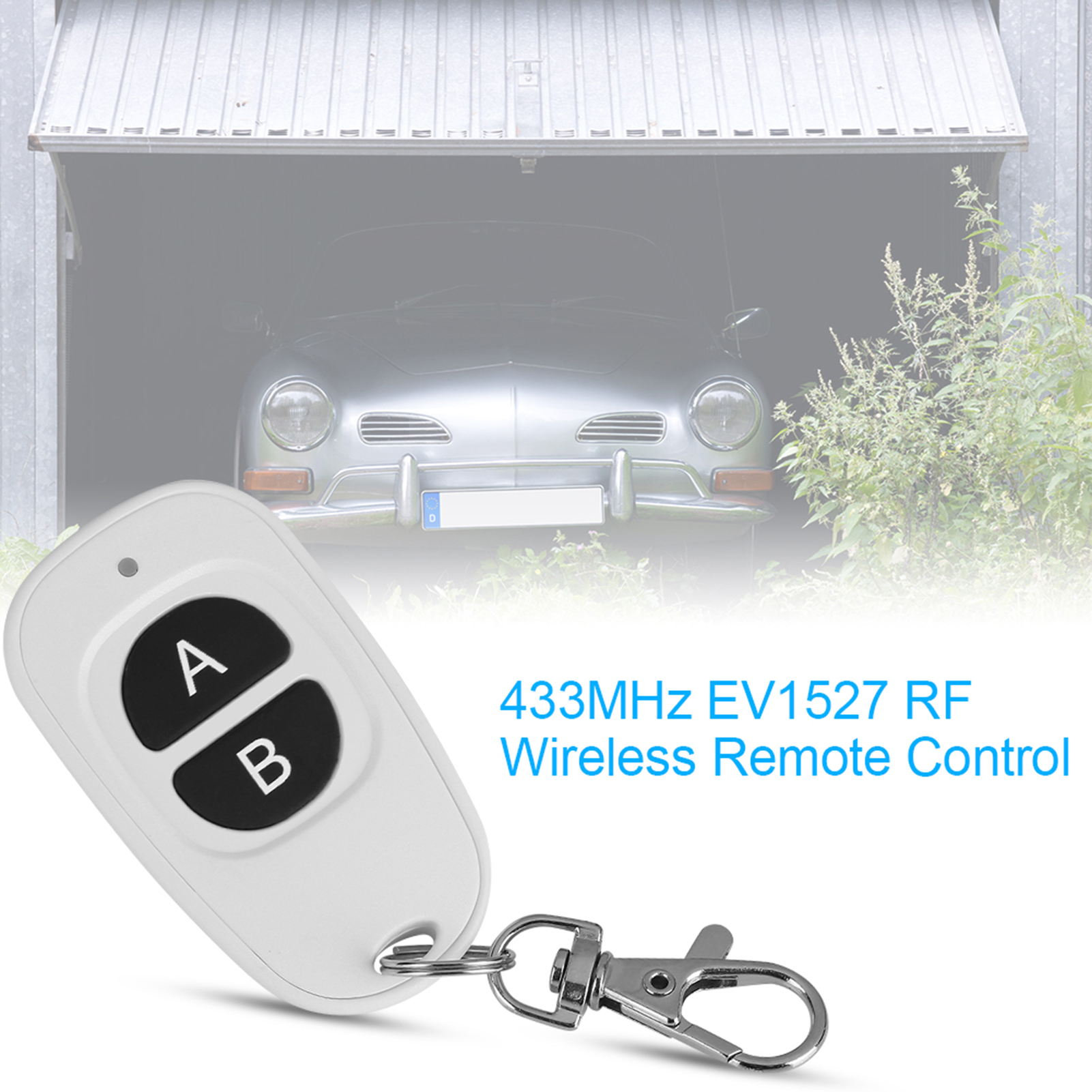 433MHz-EV1527-RF-Wireless-Transmitter-Garage-Door-1-4-Channel-Key-Remote-Control miniature 28