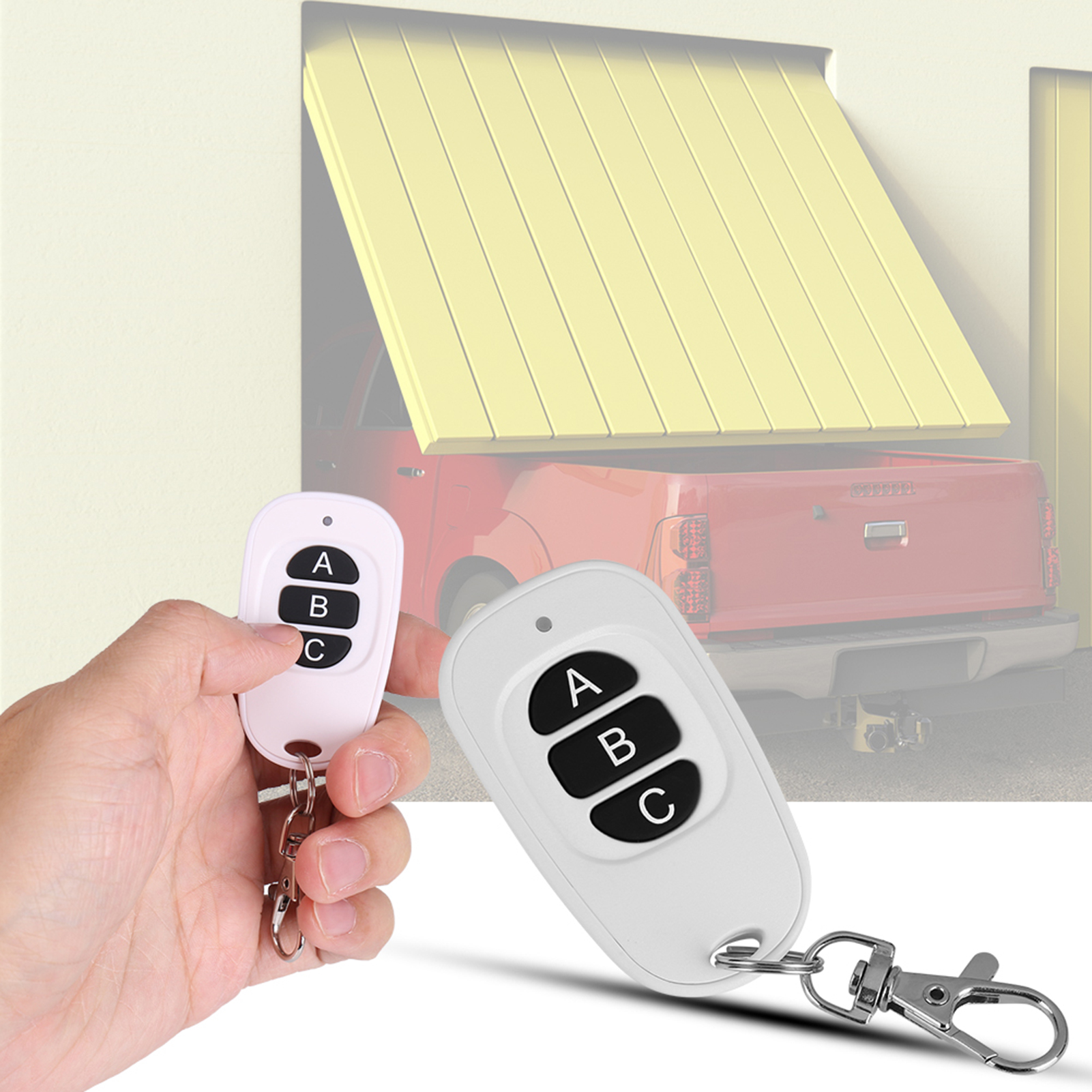 433MHz-EV1527-RF-Wireless-Transmitter-Garage-Door-1-4-Channel-Key-Remote-Control miniature 37