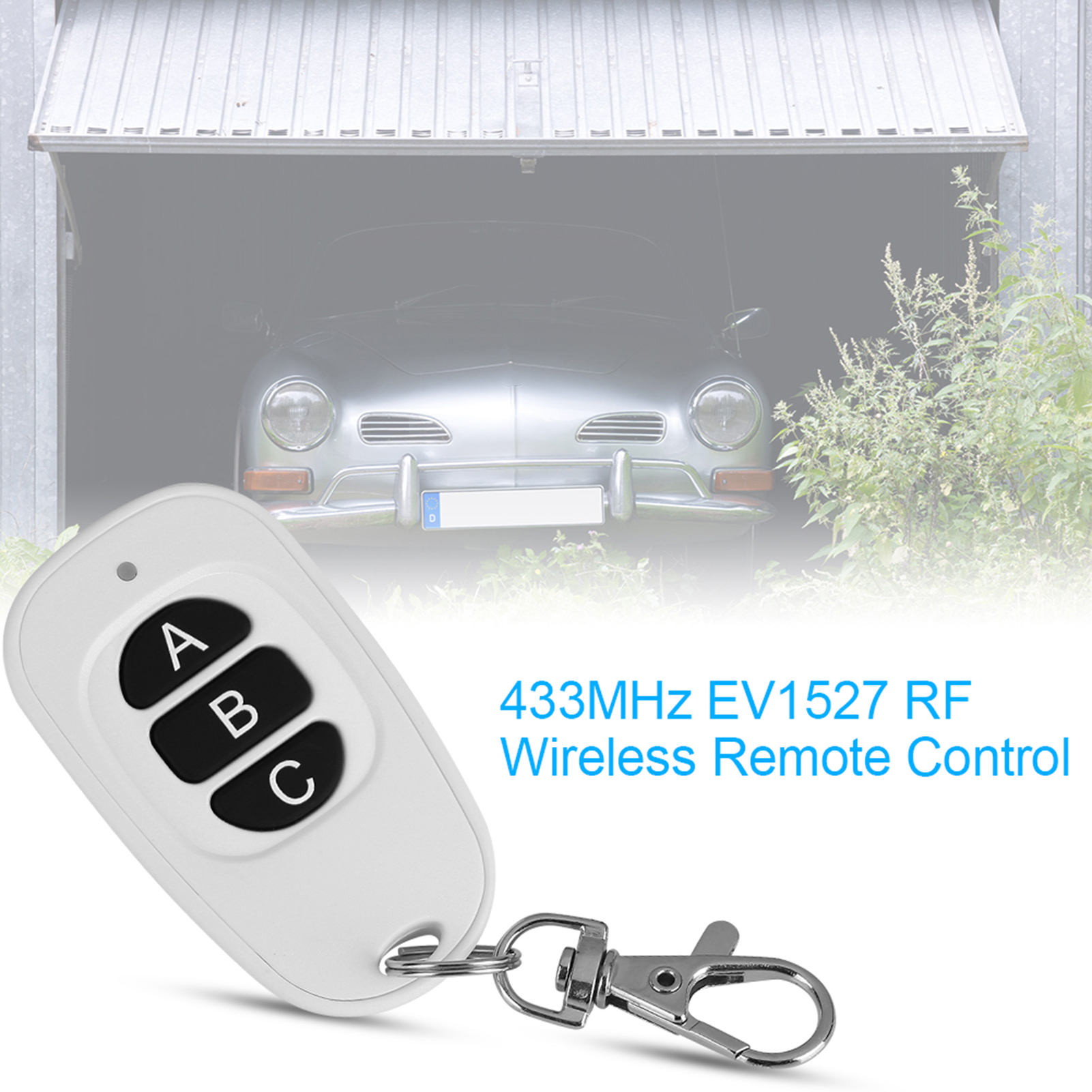 433MHz-EV1527-RF-Wireless-Transmitter-Garage-Door-1-4-Channel-Key-Remote-Control miniature 38