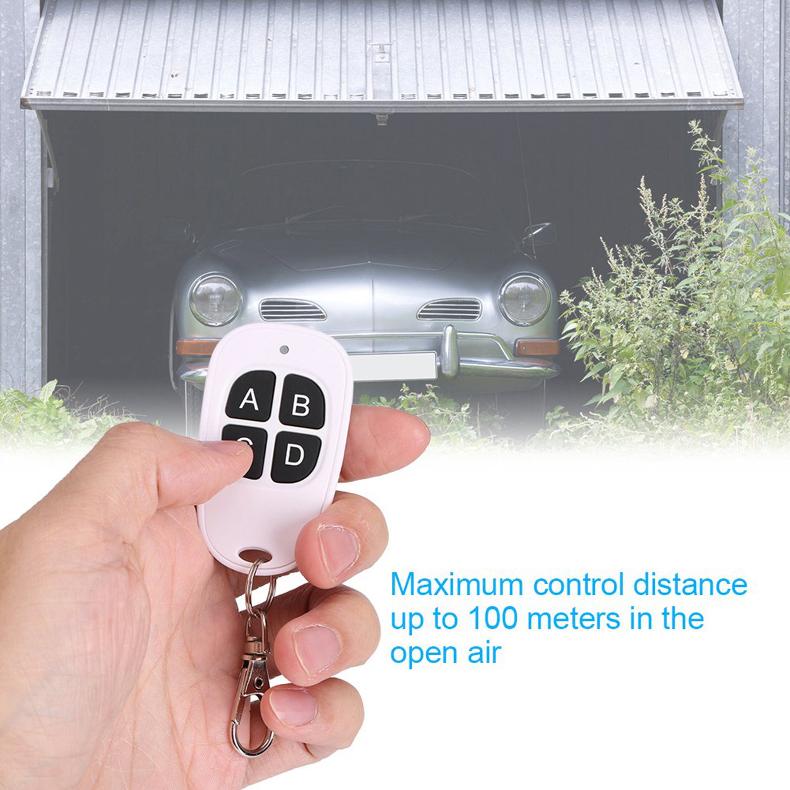 433MHz-EV1527-RF-Wireless-Transmitter-Garage-Door-1-4-Channel-Key-Remote-Control miniature 49