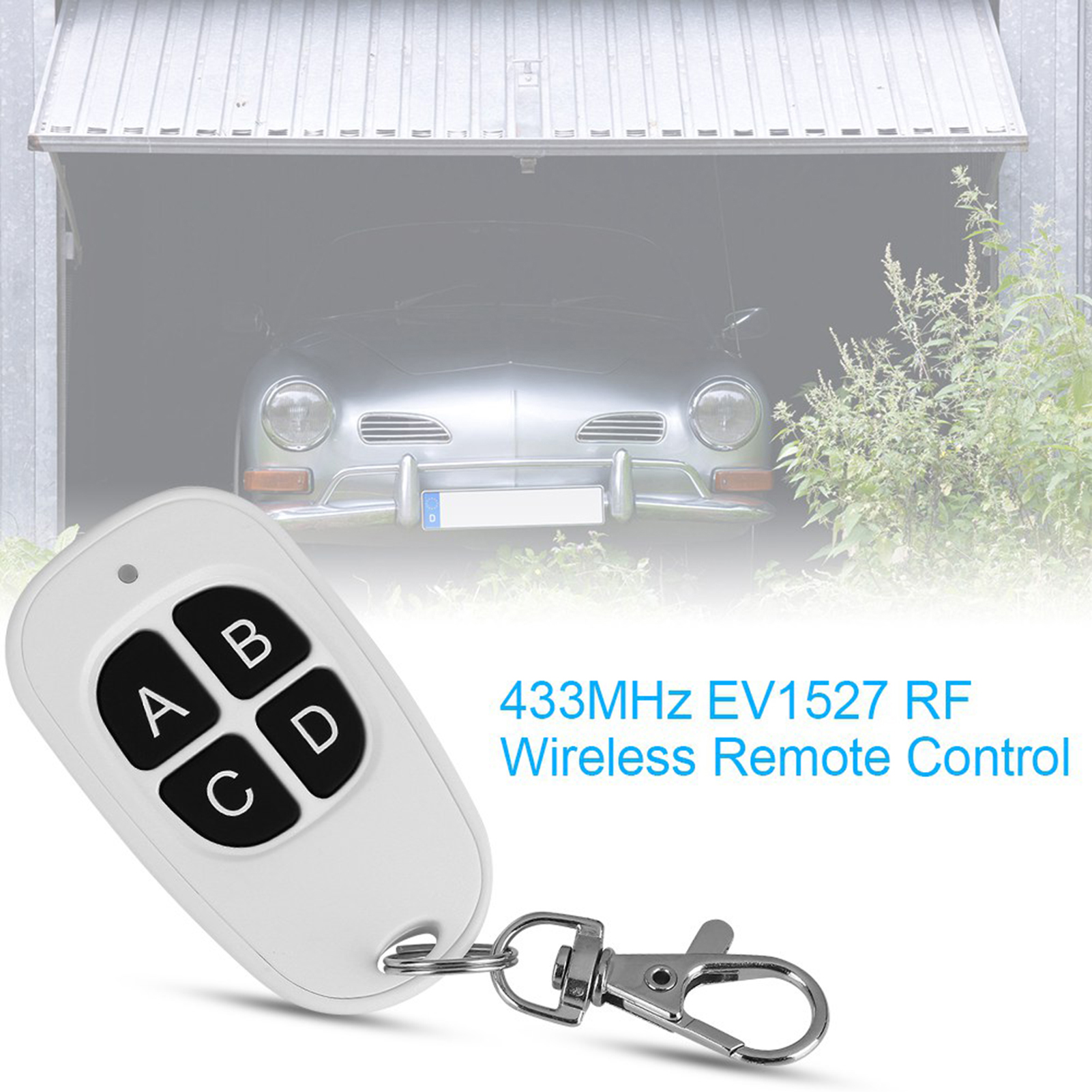 433MHz-EV1527-RF-Wireless-Transmitter-Garage-Door-1-4-Channel-Key-Remote-Control miniature 48