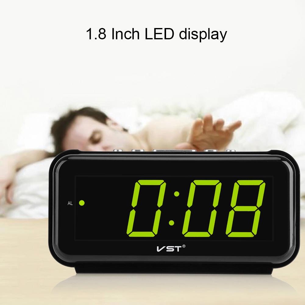 Details about 220V Electronic Table Digital Alarm Clock Desktop LED Display  Snooze EU Plug LJ