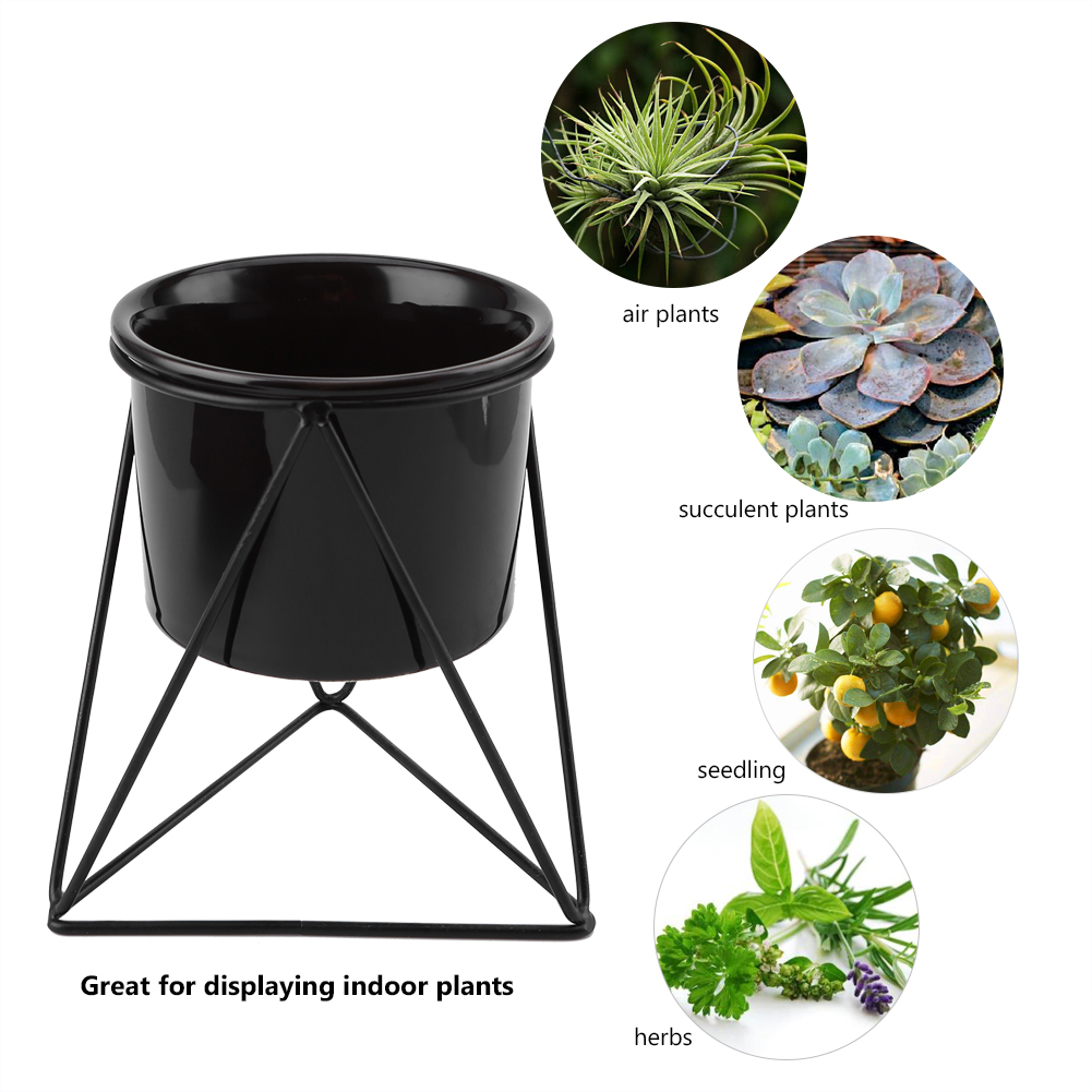 Home Outdoor Metal Plant Stand Flower Display Pot