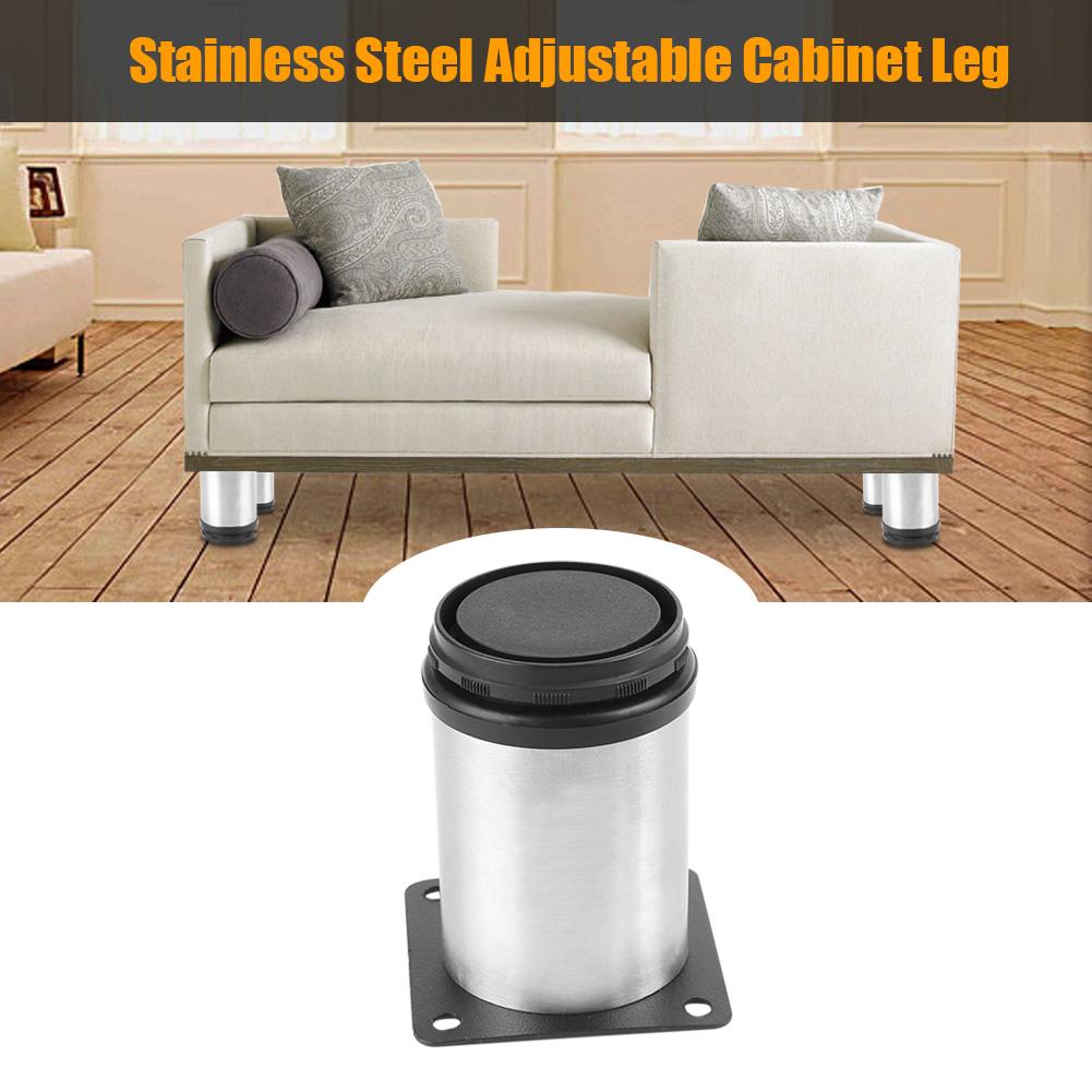 Stainless Steel Adjustable Kitchen Cabinets Table Shelf Feet Round ...