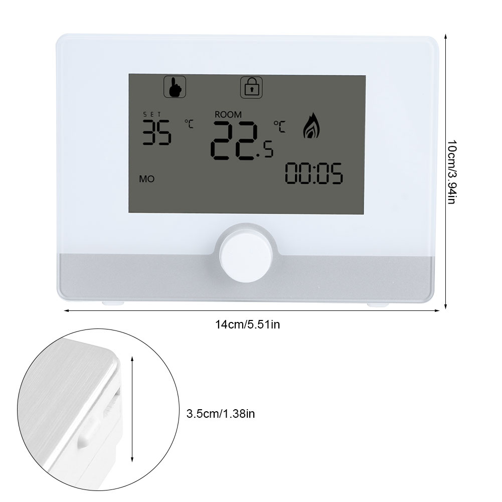 plastic programmable digital thermostat for wall hung gas. Black Bedroom Furniture Sets. Home Design Ideas