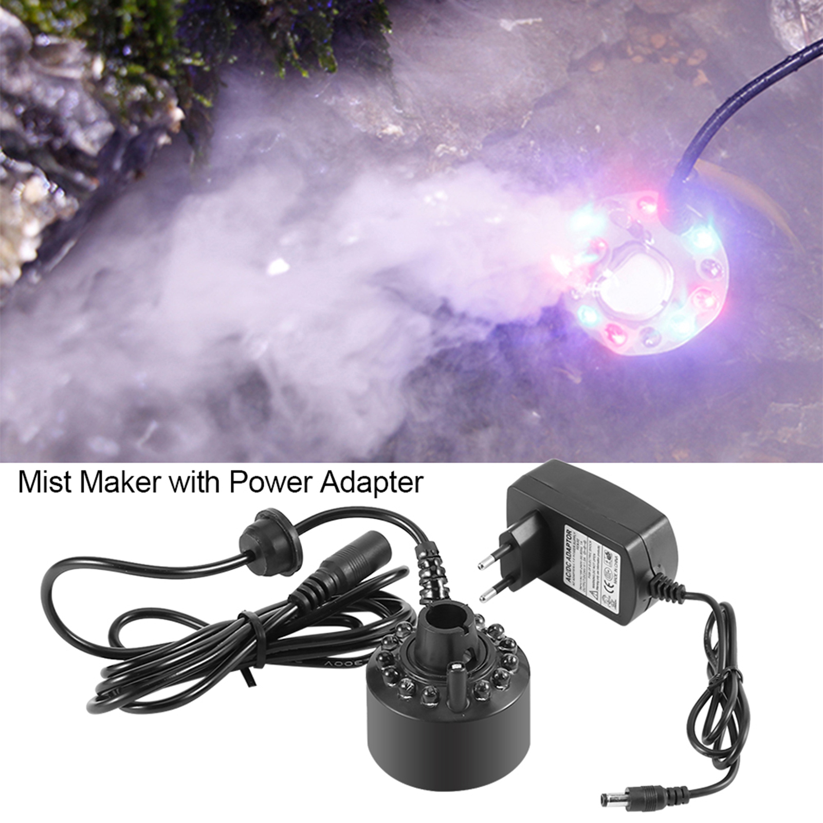 Hot Ultrasonic Mist Maker Fogger Water Fountain Pond Atomizer Air Humidifier HG