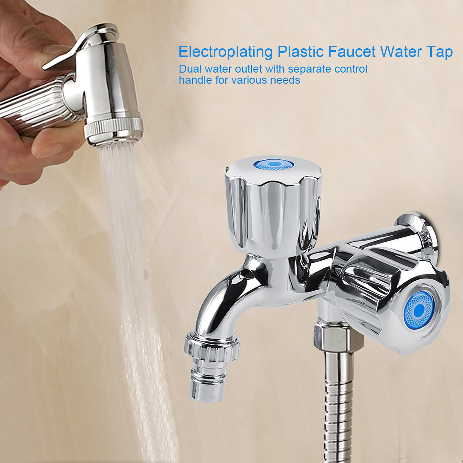 Washing Machine Faucet Sink Basin Bathroom Water Tap with Double ...