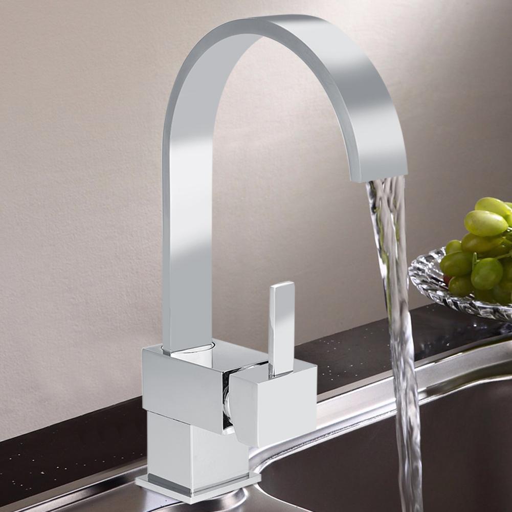 Chrom Hahn Wasserhahn quadratisch Waschbecken Küchenarmatur ...