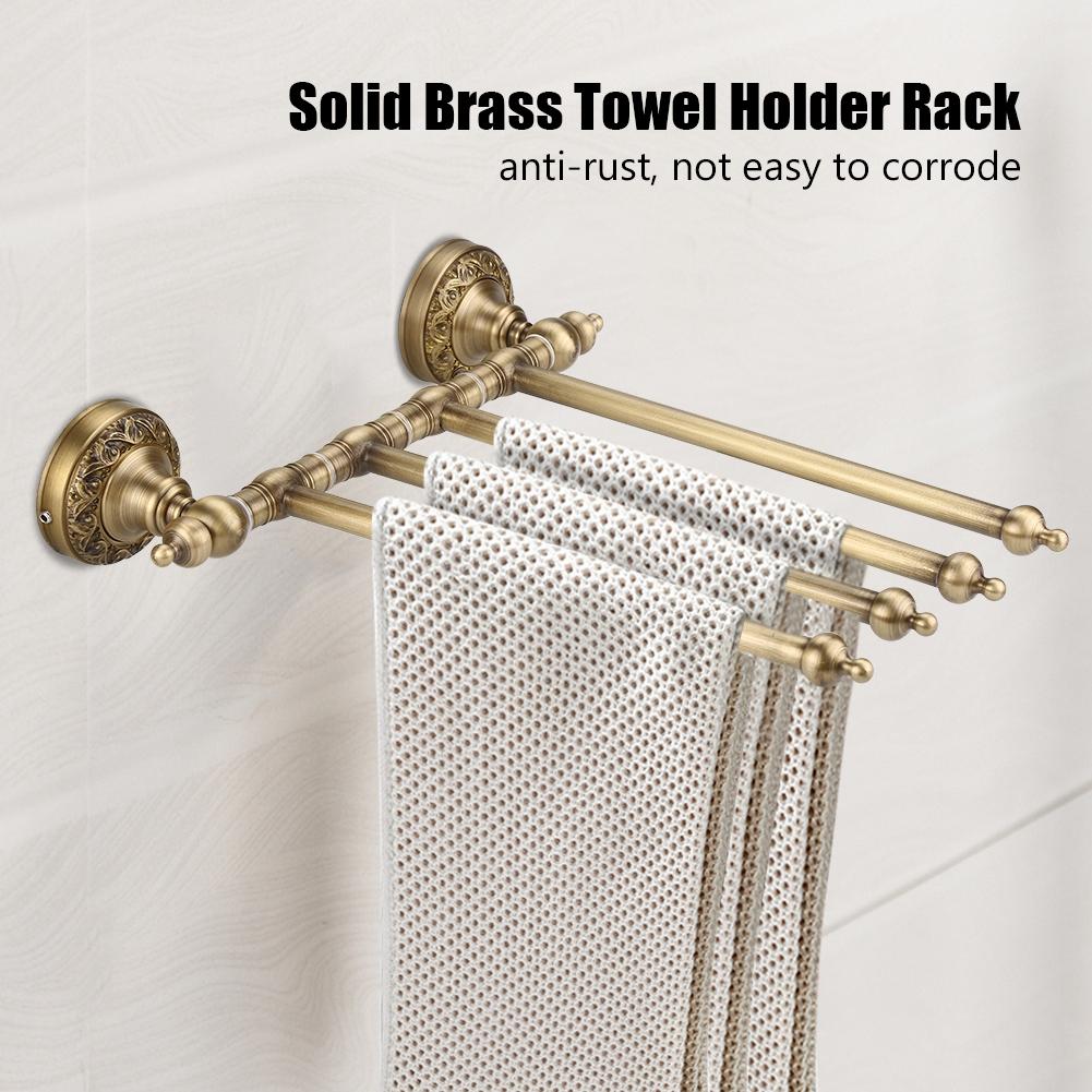 Antik Messing Handtuchhalter Handtuchstange Schwenkbar