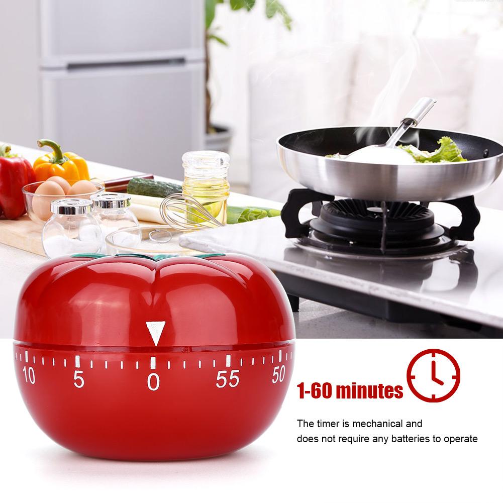Timer-Da-Cucina-Meccanico-A-Forma-Di-Pomodoro-Cottura-Alimenti-60-Minuti-dfh miniatura 17