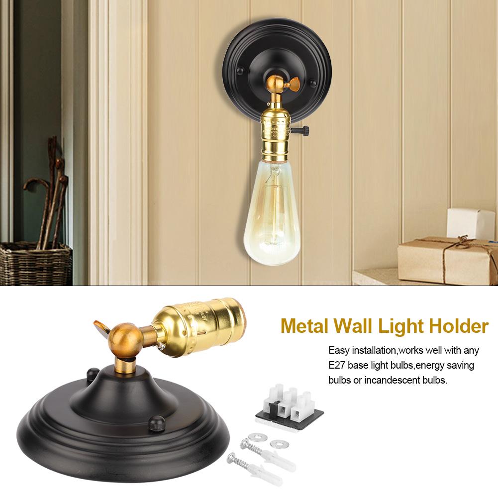 E27-Lampada-da-Parete-Muro-Applique-Vintage-RETR-Illuminazione-in-Metallo miniatura 14