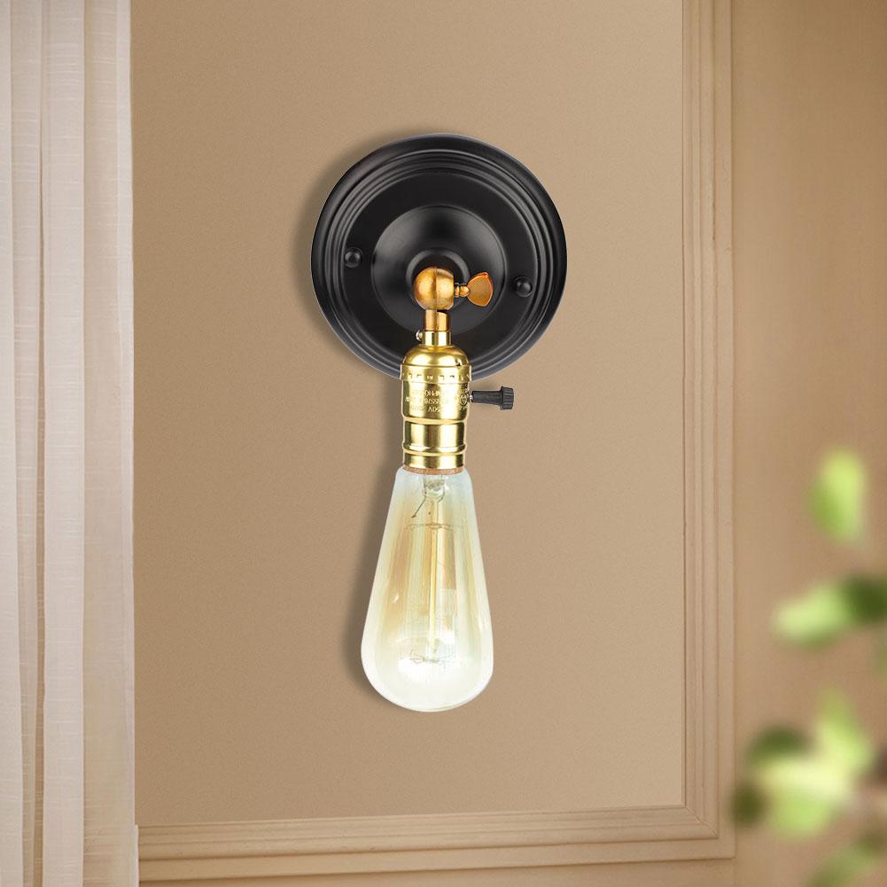E27-Lampada-da-Parete-Muro-Applique-Vintage-RETR-Illuminazione-in-Metallo miniatura 15