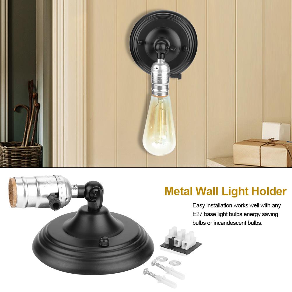 E27-Lampada-da-Parete-Muro-Applique-Vintage-RETR-Illuminazione-in-Metallo miniatura 17