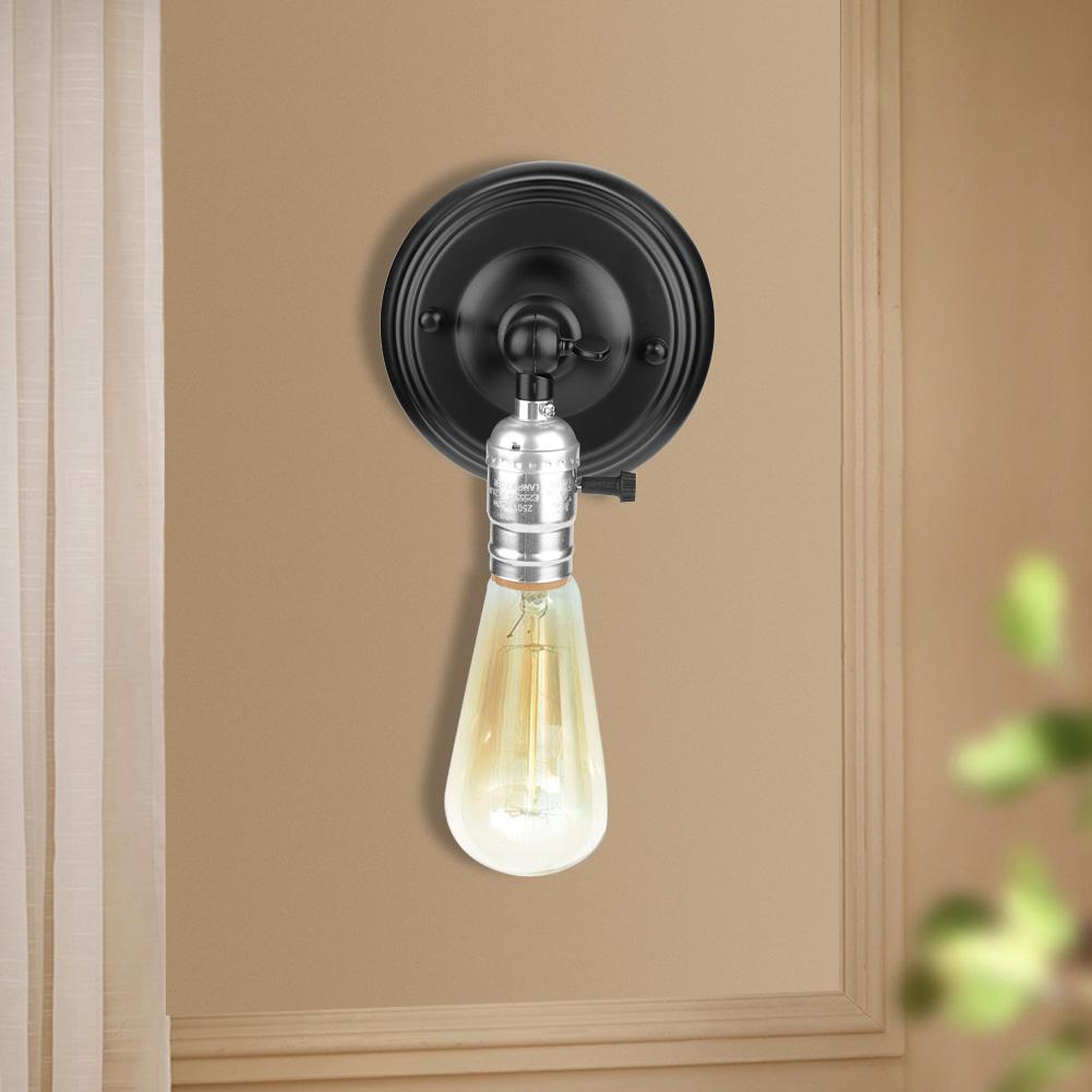 E27-Lampada-da-Parete-Muro-Applique-Vintage-RETR-Illuminazione-in-Metallo miniatura 18