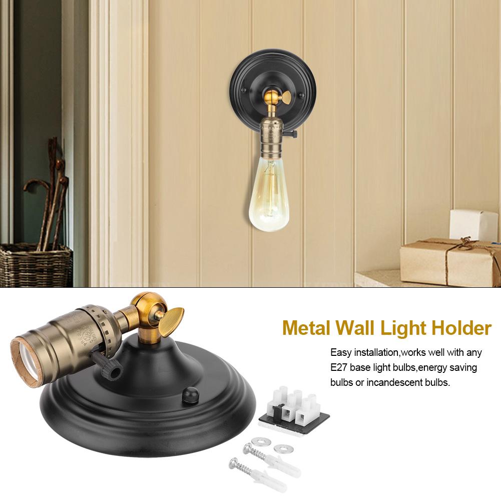 E27-Lampada-da-Parete-Muro-Applique-Vintage-RETR-Illuminazione-in-Metallo miniatura 20