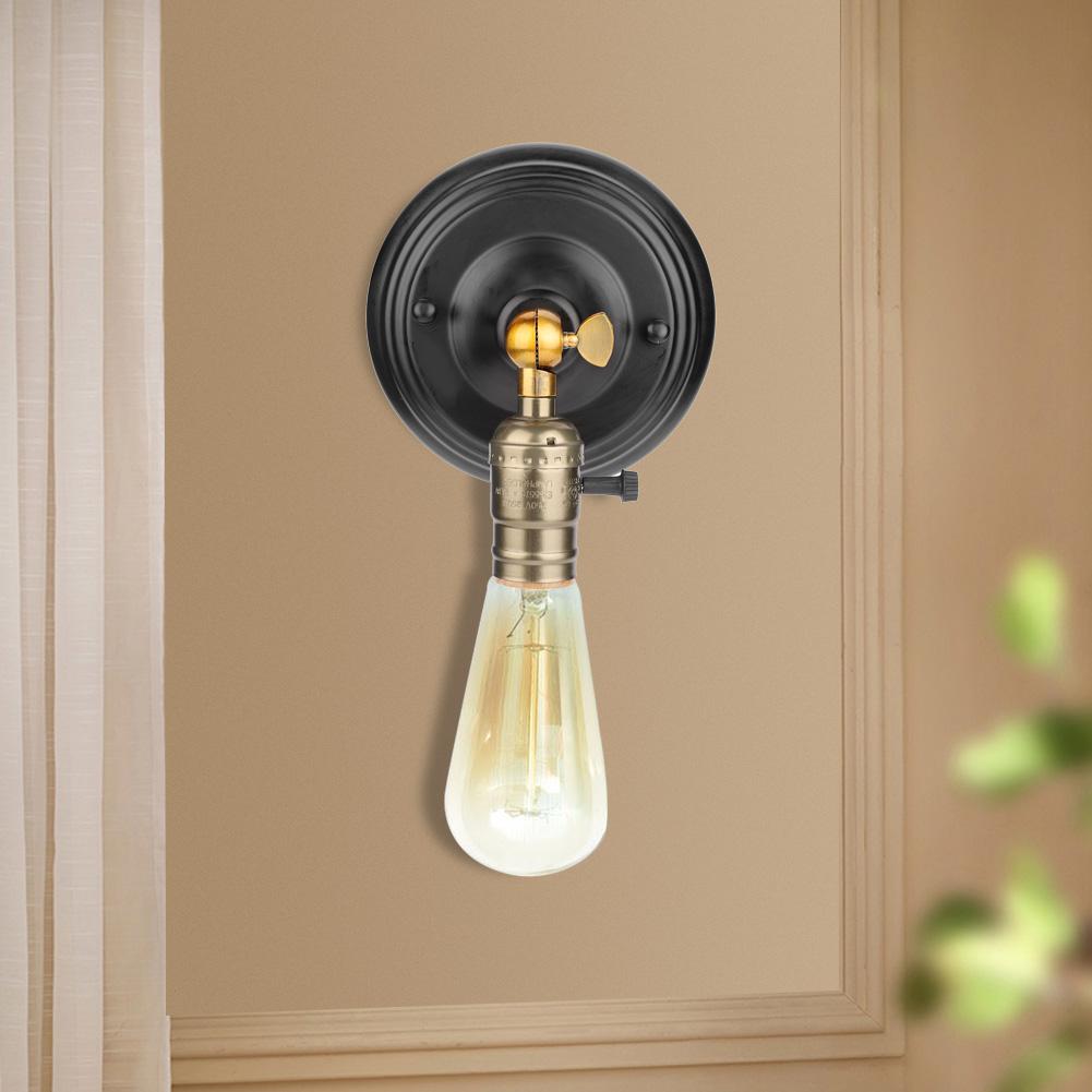 E27-Lampada-da-Parete-Muro-Applique-Vintage-RETR-Illuminazione-in-Metallo miniatura 21