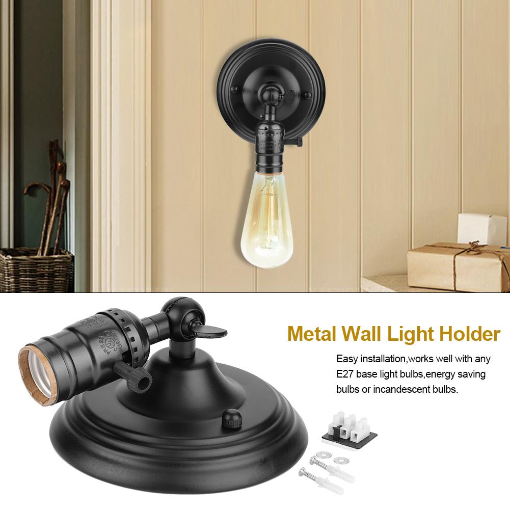 E27-Lampada-da-Parete-Muro-Applique-Vintage-RETR-Illuminazione-in-Metallo miniatura 23