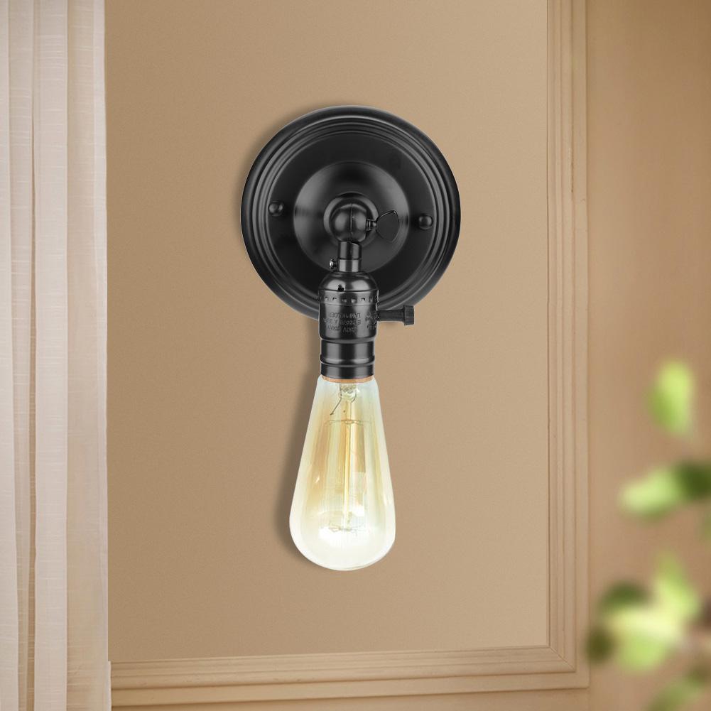 E27-Lampada-da-Parete-Muro-Applique-Vintage-RETR-Illuminazione-in-Metallo miniatura 24