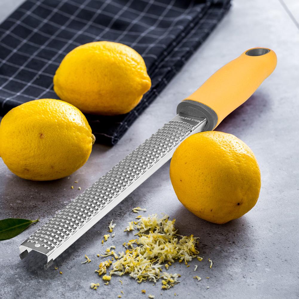 Stainless-Steel-Lemon-Zester-Cheese-Grater-Fruit-Vegetable-Slicer-Kitchen-Tool-S