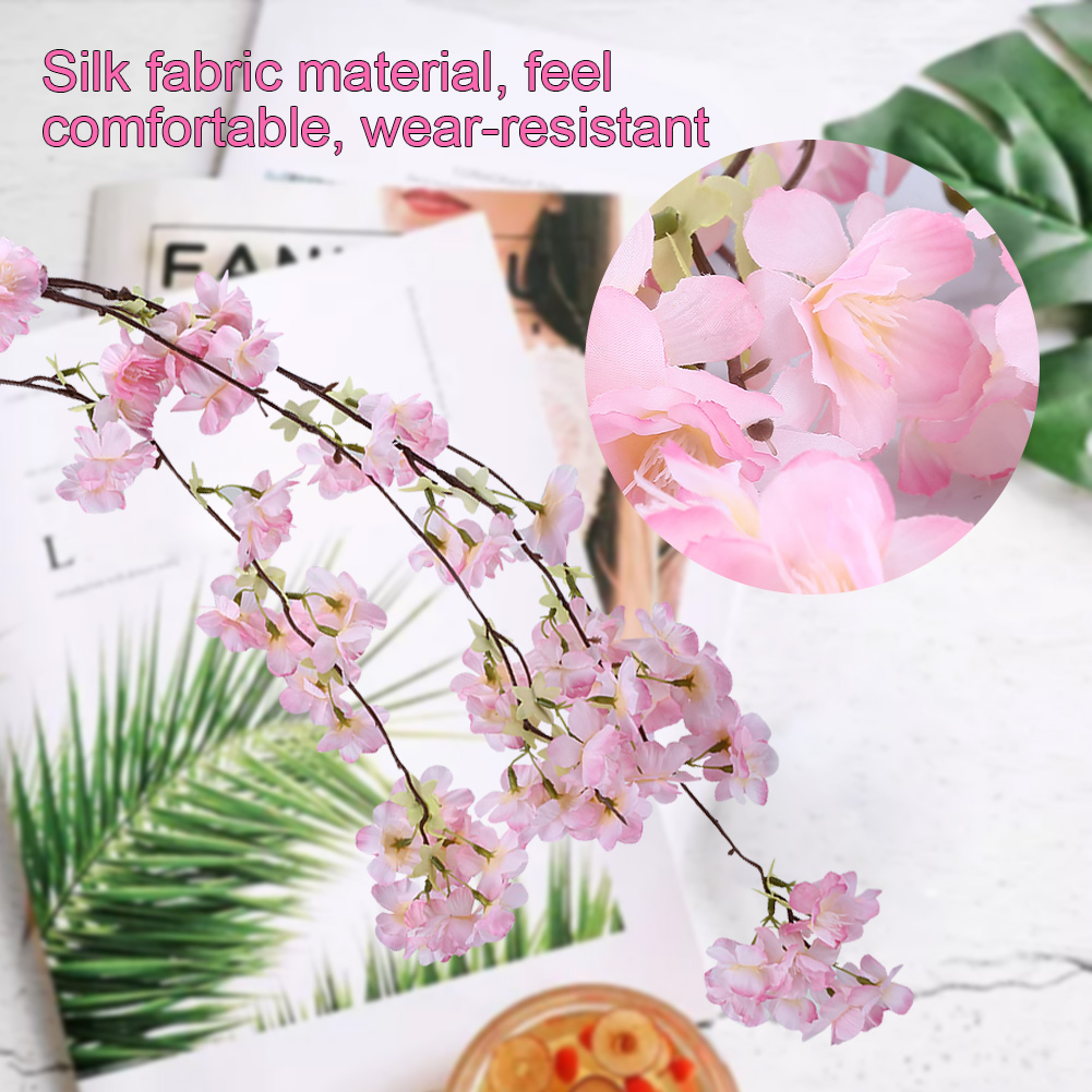 2018 Artificial Cherry Spring Cotton Blossom Branch Silk Flowers