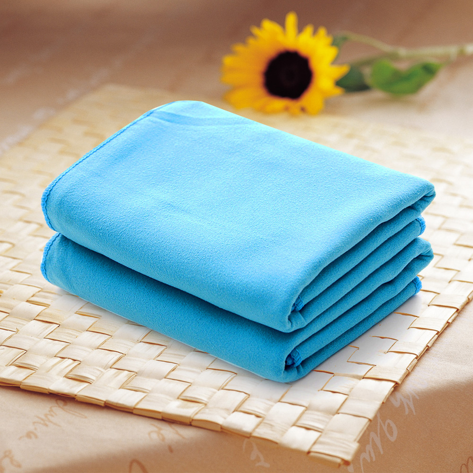 Zip Soft Microfiber Towel: Soft Microfiber Towel Sports Bath Gym Quick Dry Travel