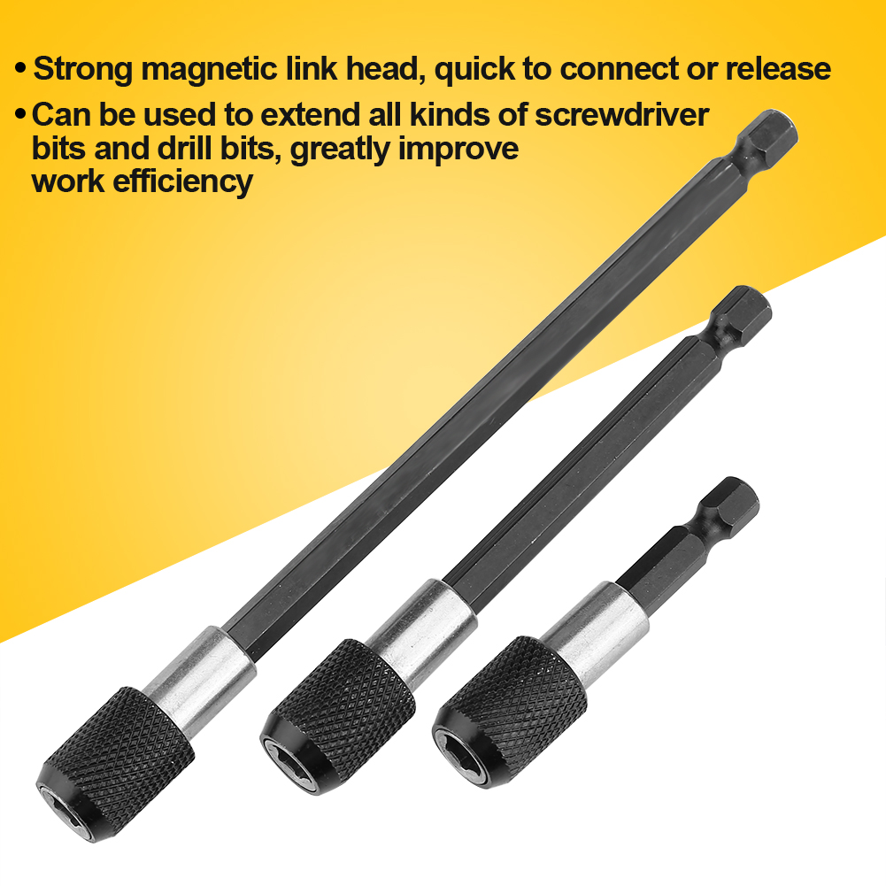 Quick-Release-1-4-034-Hex-Shank-Stretch-Magnetic-Bit-Holder-Extensions-Screwdriver miniature 8