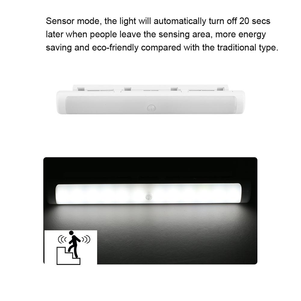 Usb Battery Led Sensor Light Kitchen Under Cabinet