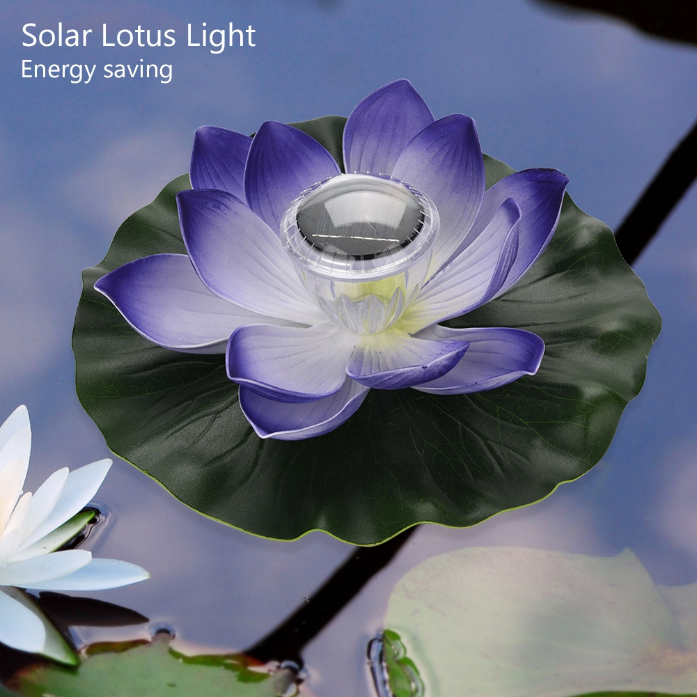 Solar led color changing lotus flower floating lamp pool decor solar led color changing lotus flower floating lamp izmirmasajfo
