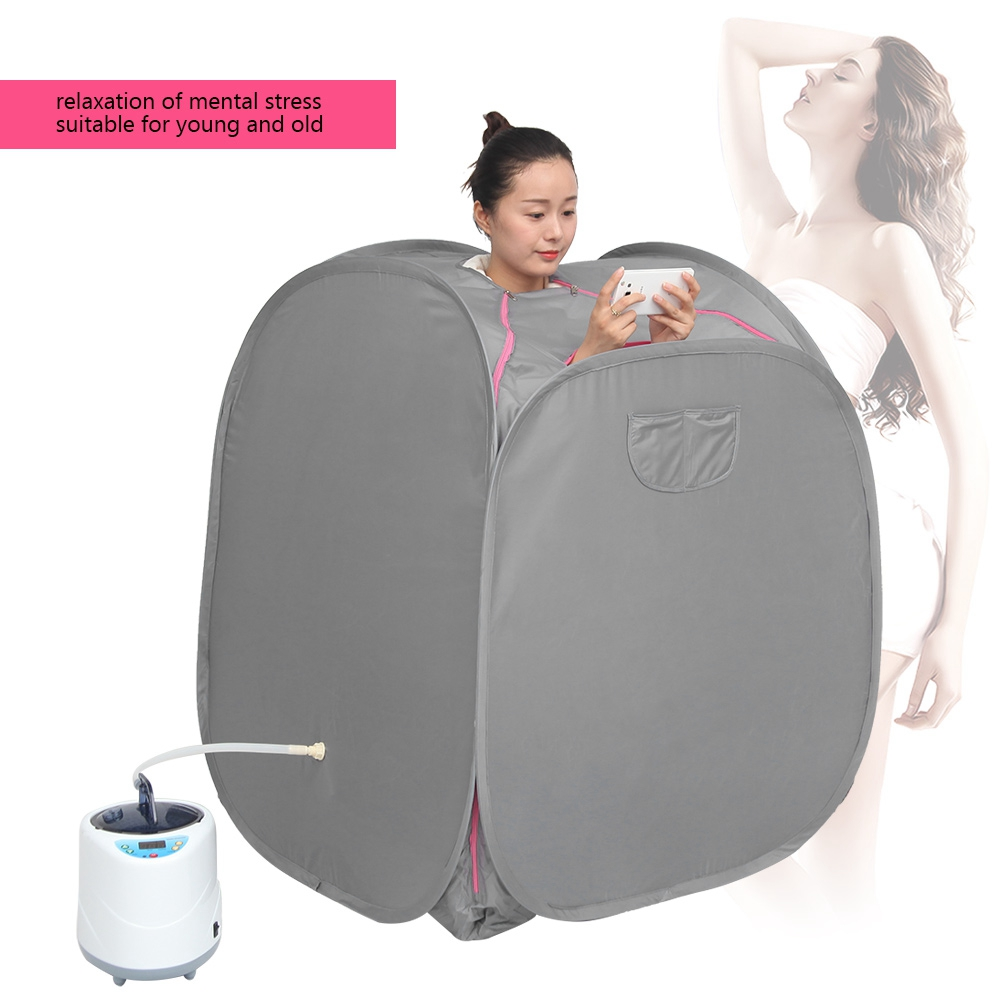 2L-Home-Steam-Sauna-Spa-Full-Body-Portable-Slimming-Loss-Weight-Detox-Therapy-HG thumbnail 99