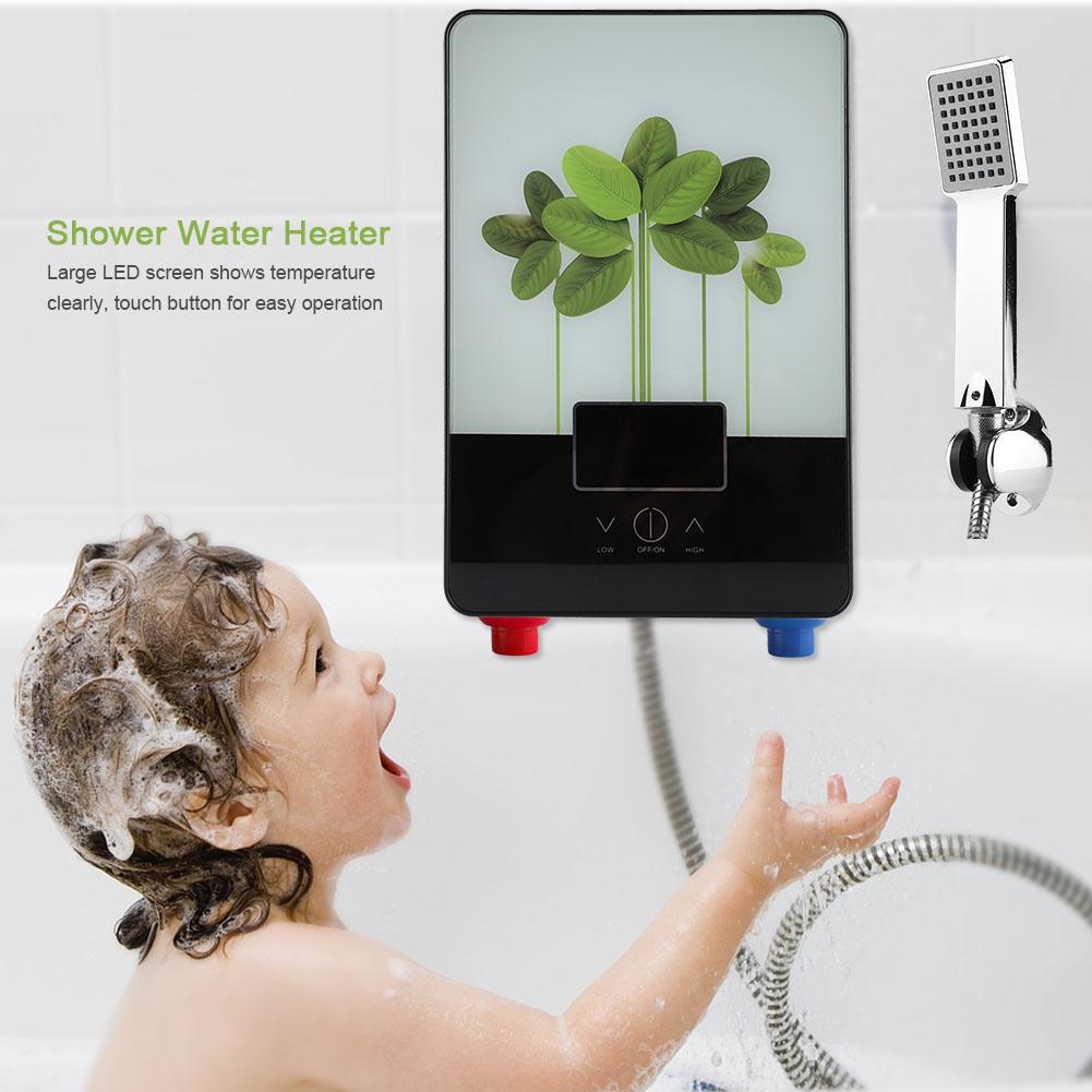 6500w scaldacqua elettrico istantaneo scaldabagno tankless doccia bagno scaldino ebay - Scaldabagno istantaneo ...