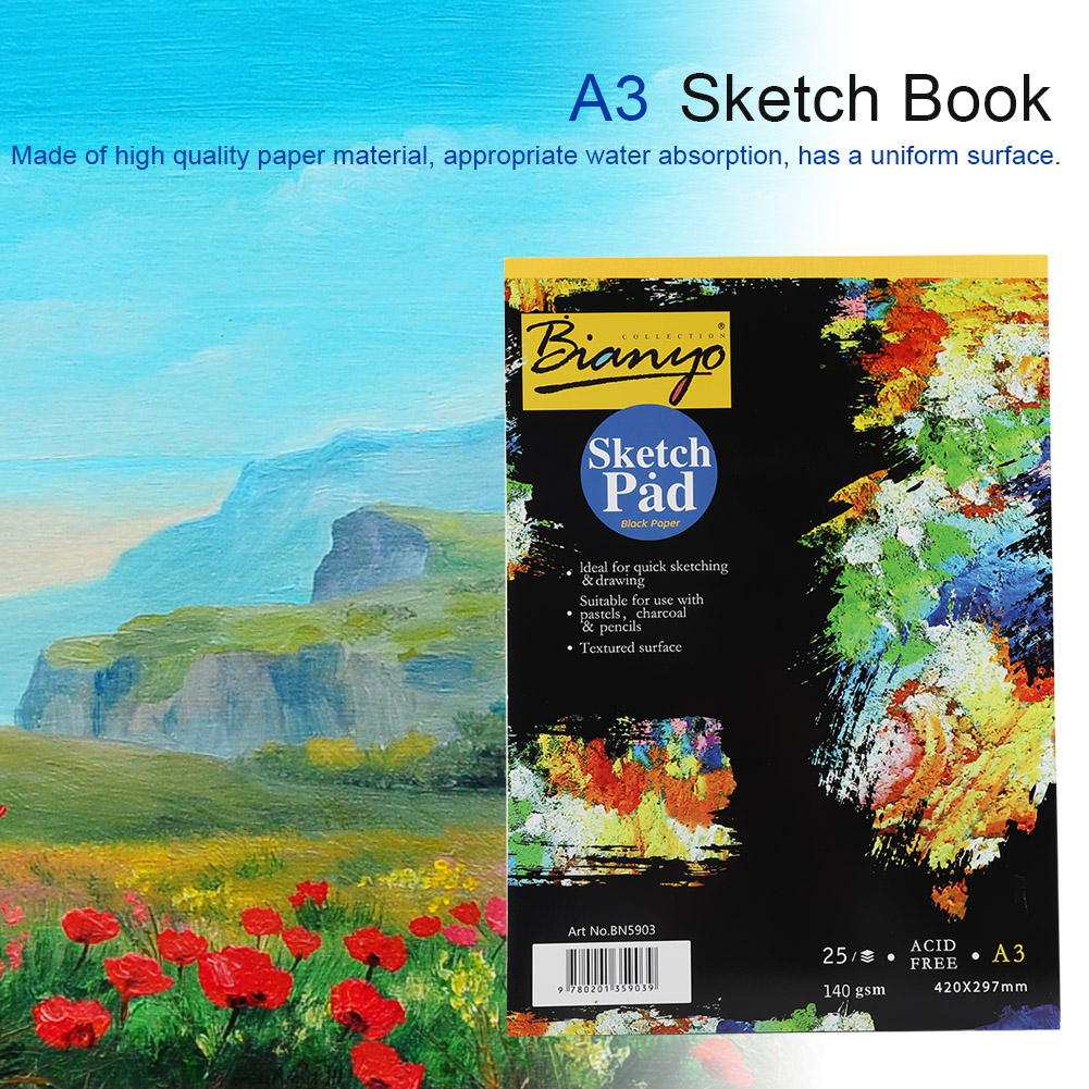 A3-A4-25-sheets-Artist-Sketchbook-Watercolor-Paper-Notepad-Painting-Drawing-Book thumbnail 14