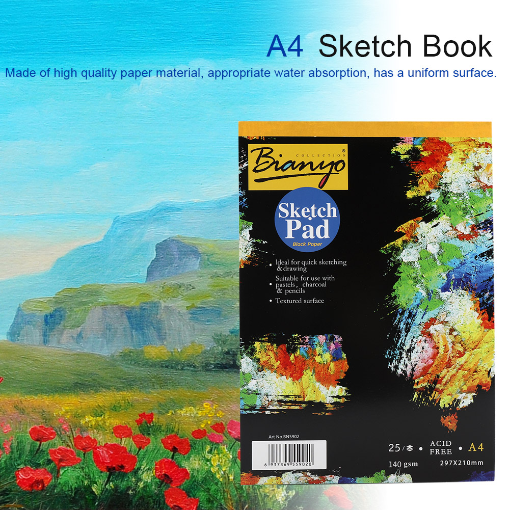 A3-A4-25-sheets-Artist-Sketchbook-Watercolor-Paper-Notepad-Painting-Drawing-Book thumbnail 17