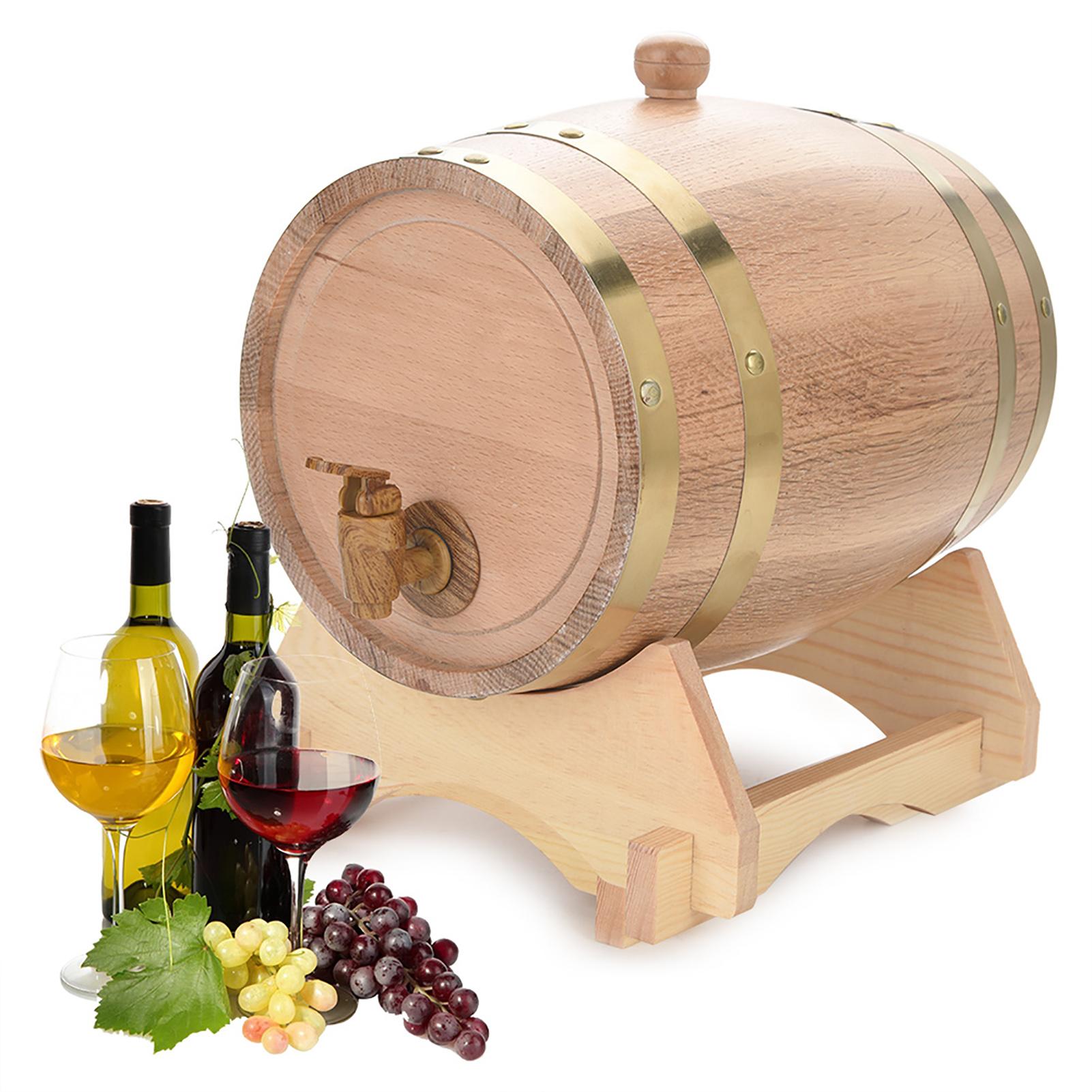 1-5-3-5-10L-Vintage-Fut-Tonneau-Tonneaux-Bois-Chene-Robinet-Pour-Brandy-Whisky