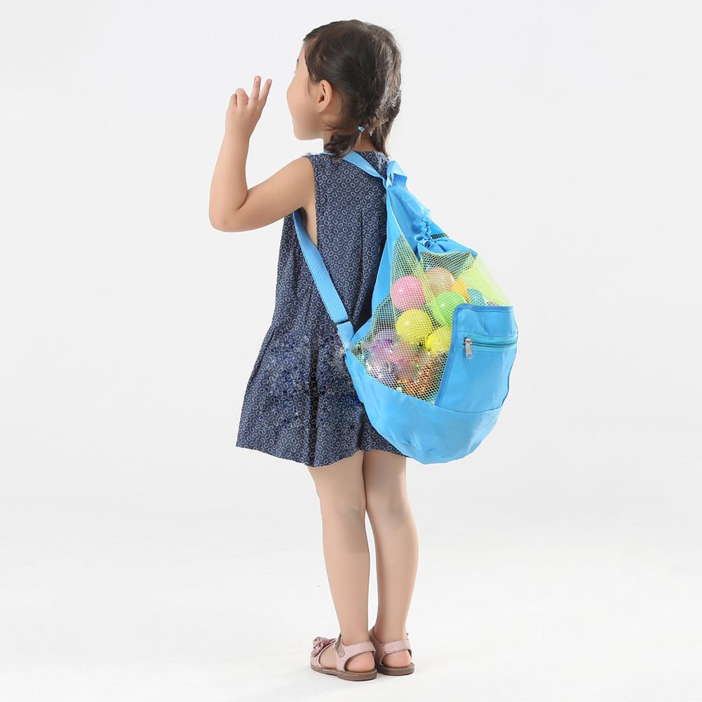 12243abb0c6 Foldable Large Kids Carrying Bag Beach Toys Swimming Pool Mesh Tote ...