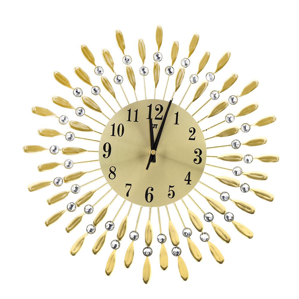 3D Wall Clock Metal Crystal Decorative 3D Silent Modern Iron Art ...