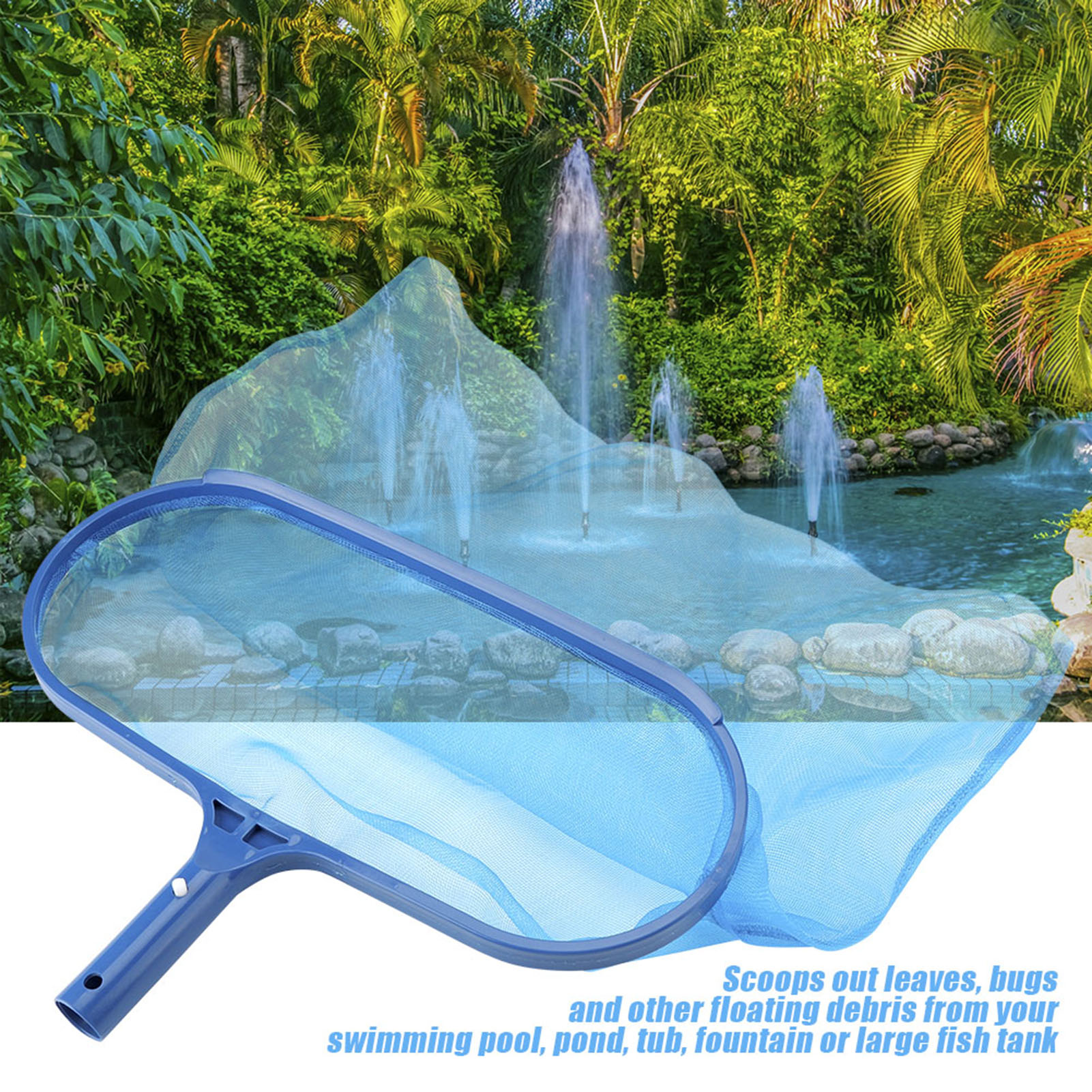 Details about Swimming Pool Clean Leaf Skimmer Rake Net Duty Leaves Bag  Durable Shallow & Deep