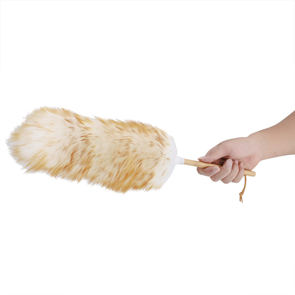 Anti-static-Wool-Ostrich-Feather-Fur-Brush-Duster-Dust-Cleaning-Tool-Wood-Handle thumbnail 18