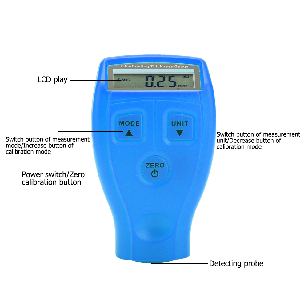 Mini-Car-Paint-Coating-Thickness-Gauges-Meter-Tester-Width-Measuring-Instruments miniature 23