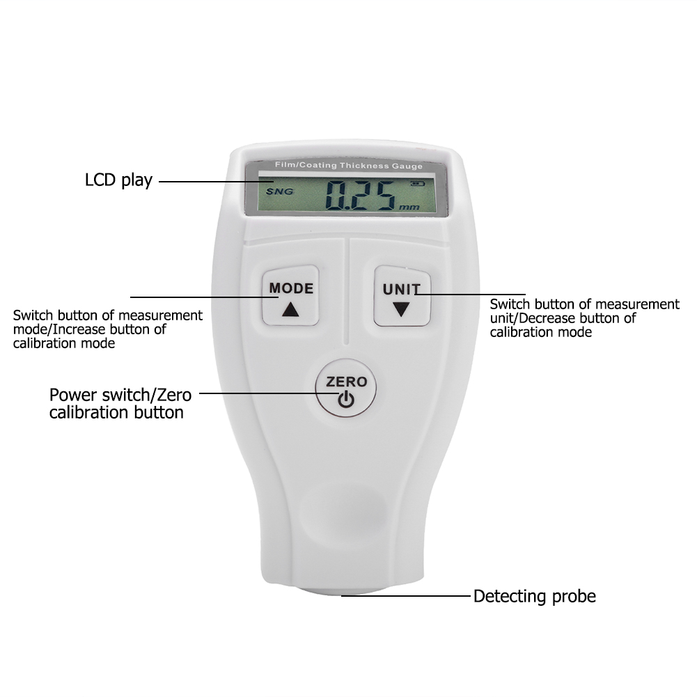 Mini-Car-Paint-Coating-Thickness-Gauges-Meter-Tester-Width-Measuring-Instruments miniature 34