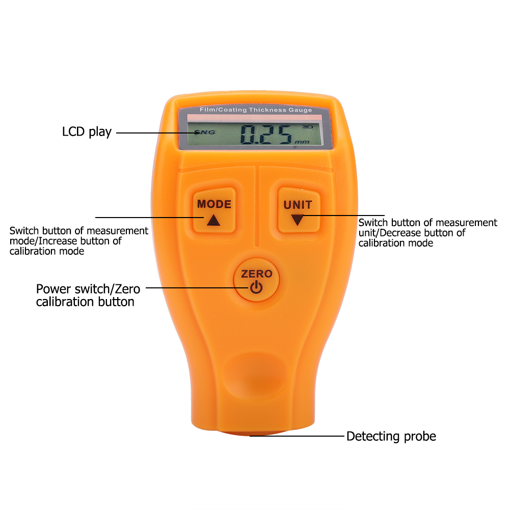 Mini-Car-Paint-Coating-Thickness-Gauges-Meter-Tester-Width-Measuring-Instruments miniature 47