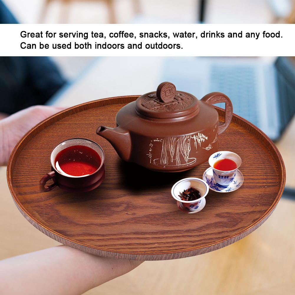 Large-Solid-Wood-Tray-Serving-Trays-Tea-Plate-Coffee-Plates-Bread-Wooden-Brunch thumbnail 53