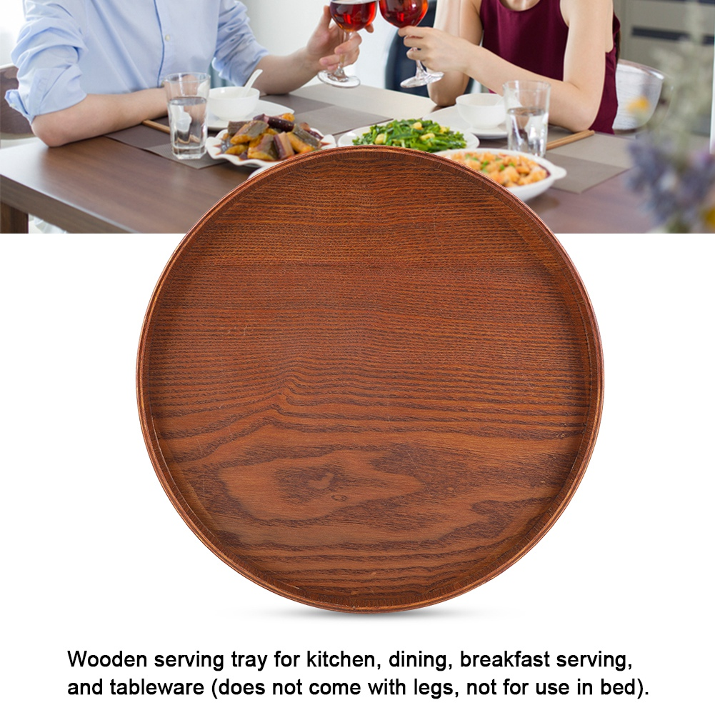 Large-Solid-Wood-Tray-Serving-Trays-Tea-Plate-Coffee-Plates-Bread-Wooden-Brunch thumbnail 54