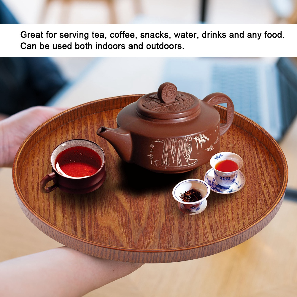 Large-Solid-Wood-Tray-Serving-Trays-Tea-Plate-Coffee-Plates-Bread-Wooden-Brunch thumbnail 56