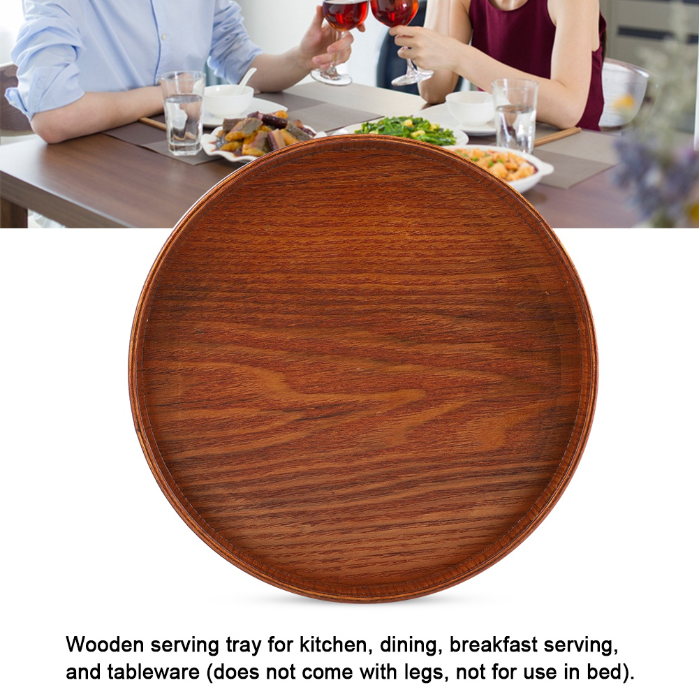 Large-Solid-Wood-Tray-Serving-Trays-Tea-Plate-Coffee-Plates-Bread-Wooden-Brunch thumbnail 57