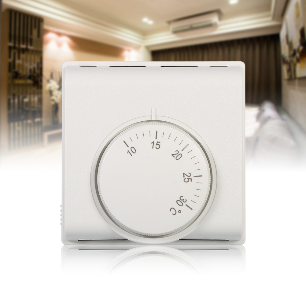 220v thermostat raumthermostat temperaturregler f r fu bodenheizung klimaanlage ebay. Black Bedroom Furniture Sets. Home Design Ideas