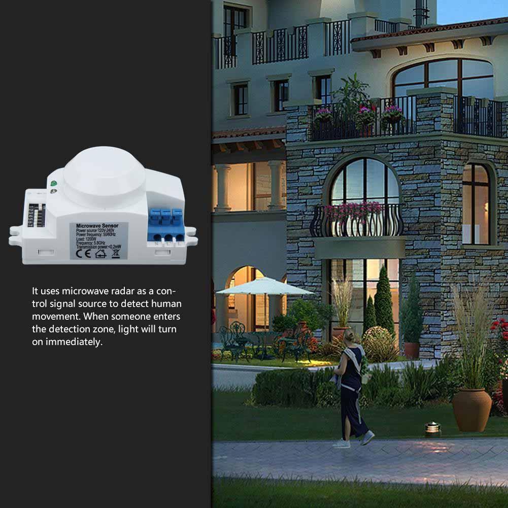 360 mikrowellen radar sensor schalter smart lampe. Black Bedroom Furniture Sets. Home Design Ideas