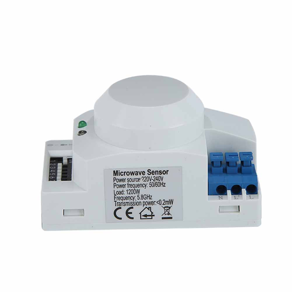360 Smart Light Switch Radar Microwave Sensor Motion Detector For Bathroom Af Ebay