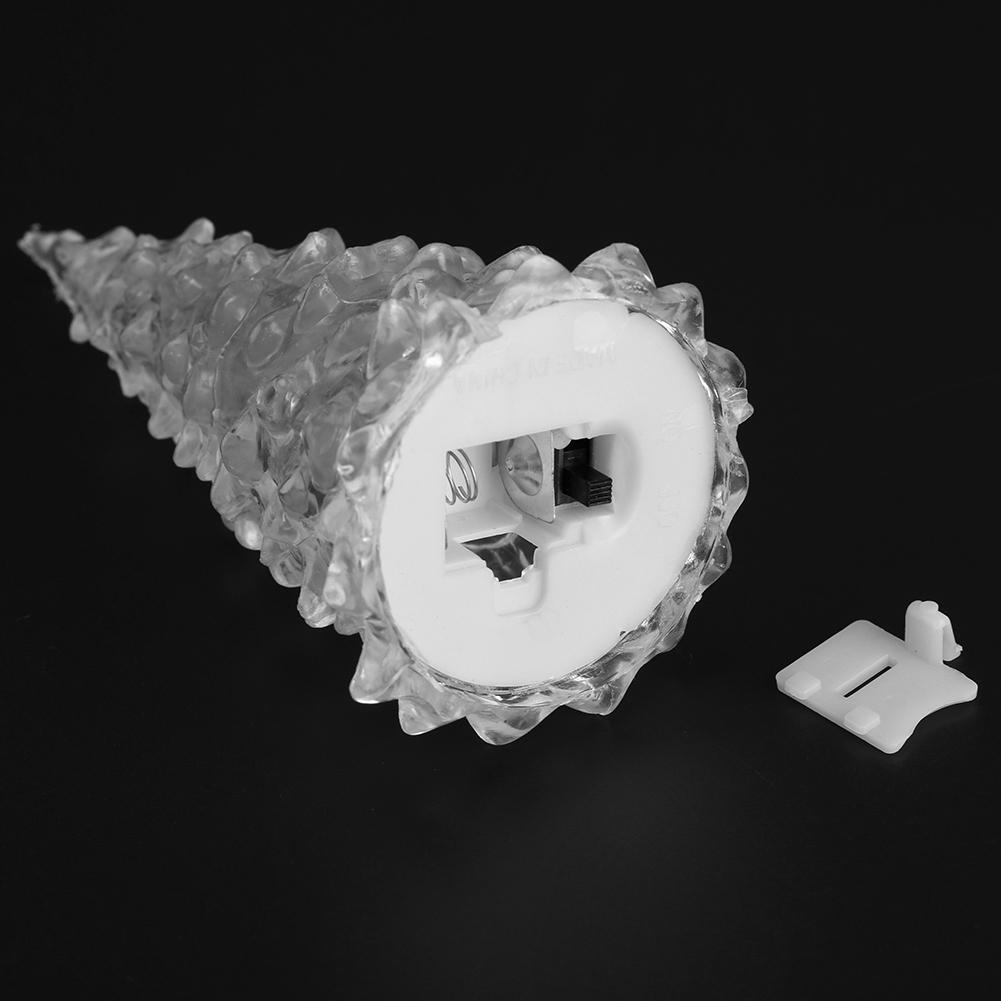 mini weihnachtsbaum form bunte led nachtlicht eis kristall lampe wohnkultur ebay. Black Bedroom Furniture Sets. Home Design Ideas