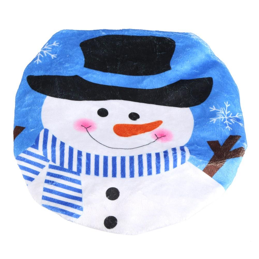 D coration de no l kit de housses de toilette santa set - Bonhomme de neige decoration exterieure ...