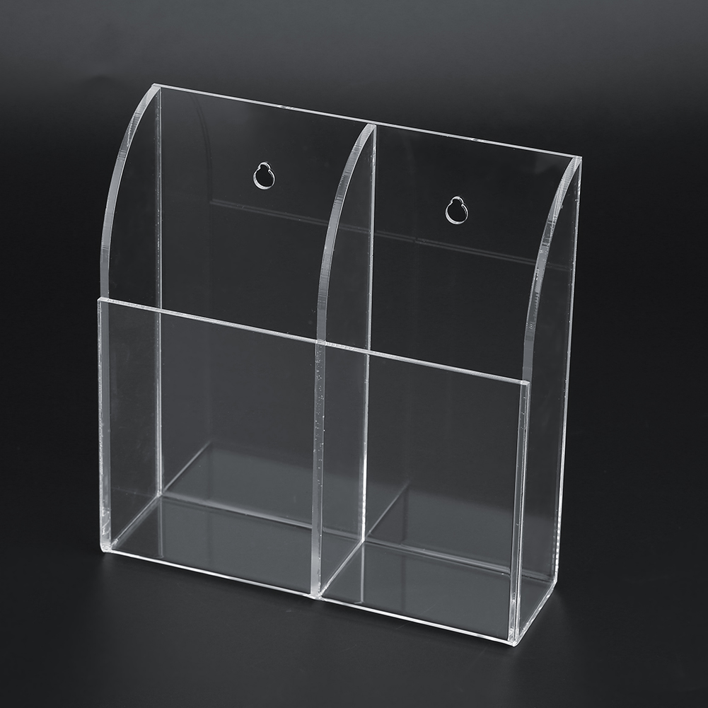 TV-Air-Conditioner-Remote-Control-Holder-Case-Acrylic-Wall-Mount-Storage-Box thumbnail 17